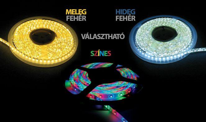 5m-es vízálló LED szalag