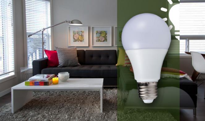 12W-os erős fényű LED izzó
